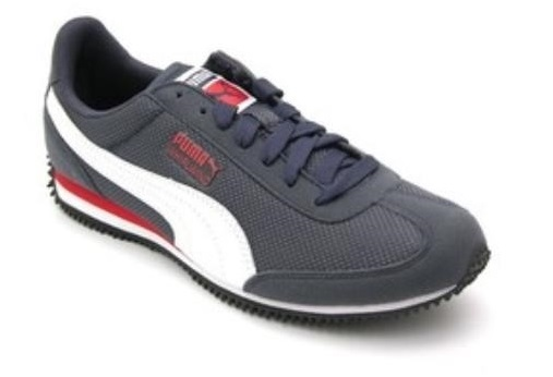 Scarpetta Puma Junior Whirlwind Mesh New Navy-White-High Risk Red TG 38