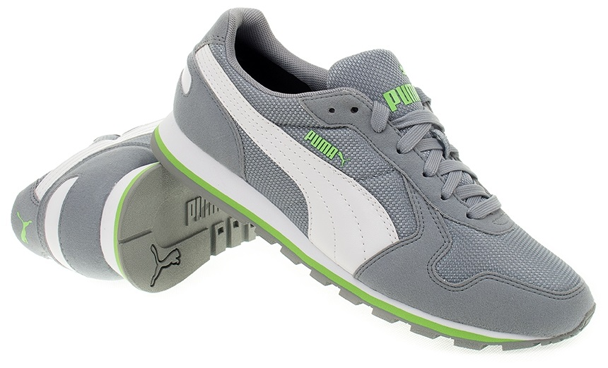 Scarpetta Puma Adults ST Runner Mesh Quarry-White-Green Gecko