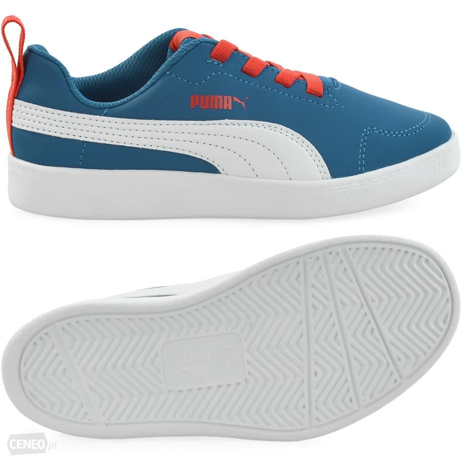 Scarpetta Puma Kids Courtflex PS Mykonos Blue-Puma White