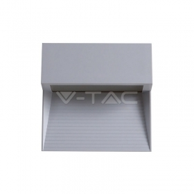 3W LED Step Light Grey Body Square 3000k