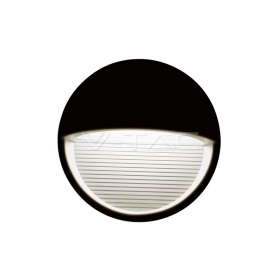 3W LED Step Light Black Body Round 3000k