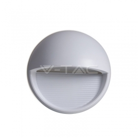 3W LED Step Light Grey Body Round 3000k
