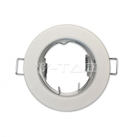 GU10 Round Spotlight Fitting White 2 pcs/box