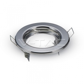 GU10 Round Spotlight Fitting Chrome 2 pcs/box