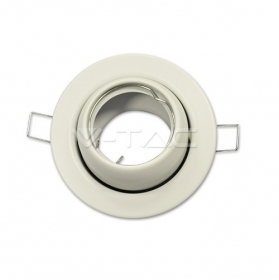 GU10 Fitting Round Changing Angle White