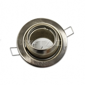 GU10 Fitting Round Changing Angle Satin Nickel