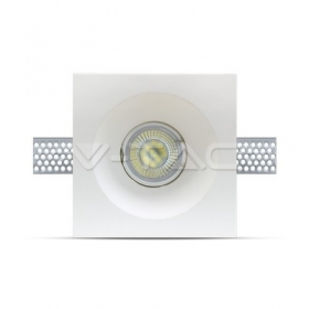 GU10 Fitting Square Gypsum Flat 120x120 White