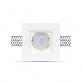 GU10 Fitting Square Gypsum 100?100 White