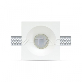 GU10 Fitting Square Gypsum Deep 120x120 White