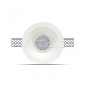 GU10 Fitting Round Gypsum Deep ?120 White