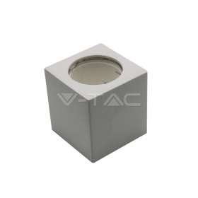 GU10 Fitting Square Gypsum White