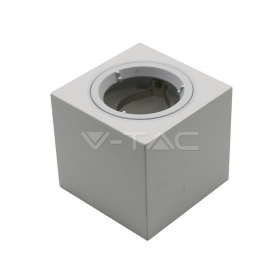 GU10 Fitting Square Gypsum With Aluminium Ring White