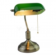 E27 Bakelite Table Lampholder With Switch Green