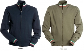 Felpa ARMY cotone Full zip con