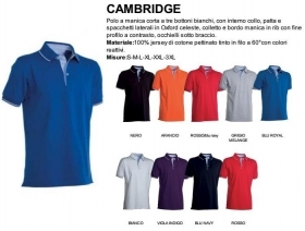Polo CAMBRIDGE manica corta 100% cotone jersey pettinato