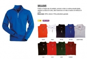 Felpa MIAMI 1/2 zip