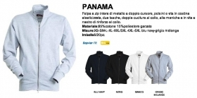 Felpa PANAMA Full-Zip in misto