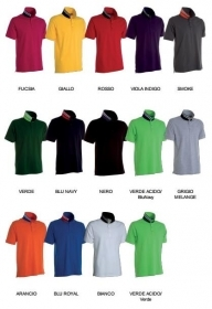 Polo REVERSE manica corta cotone 100% piquet colletto bicolore