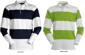 Polo RUGBY manica lunga Heavy Jersey a righe