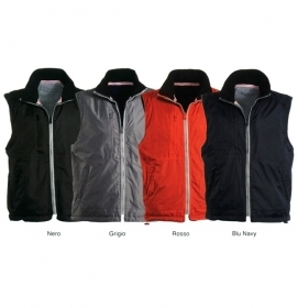Gilet SPEED reversibile double face in Nylon e interno Pile