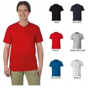 T-Shirt VNECK in 100% cotone 1