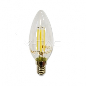 LED Bulb - 4W Filament  E14 Candle 2700K