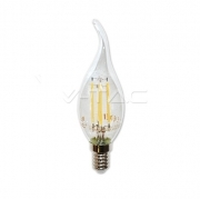 LED Bulb - 4W Filament  E14 Candle Tail 2700K