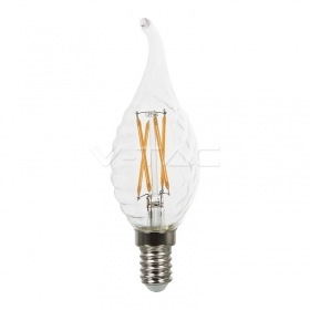 LED Bulb - 4W Filament  E14 Twist Candle Cross Tail 2700K Dimmable