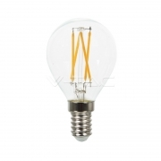 LED Bulb - 4W Filament  Cross E14 P45 4500K