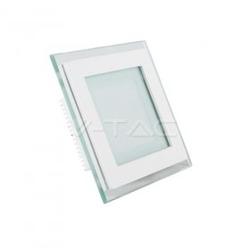 6W LED Panel Downlight Glass -