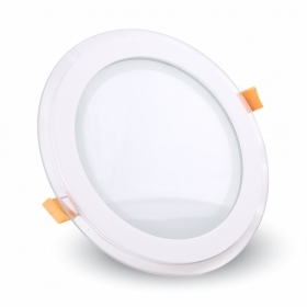 6W LED Panel Downlight Glass - Roun