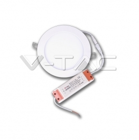 12W LED Premium Panel Downlight - Round 3000K