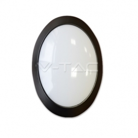 12W LED Full Oval Ceiling Lamp Black Body IP54 4000K