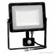 50W LED Sensor Floodlight Black Body SMD 4500K