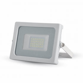 20W LED Floodlight White Body SMD 4000K