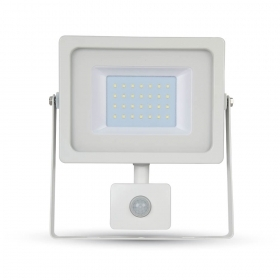 30W LED SMD Floodlight Sensor White Body 3000K
