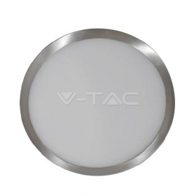 18W LED Surface Panel Light Satin Nickel Round 6000K