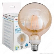 LED Bulb - 8W Filament  E27 G125 Amber 2200K Dimmable