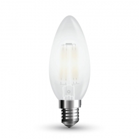 LED Bulb - 4W Filament  E14 Frost Cover 2700K Dimmable