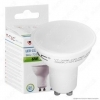 LED Spotlight - 6W GU10 SMD White Plastic Milky Cover 3000K