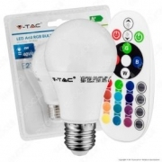 LED Bulb - 6W E27 A60 RGB With Remote Control 4000K Blister Pack