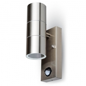 Wall Fitting GU10 With Sensor Steel Body 1 Way IP44