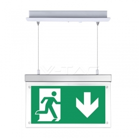 16LEDS Recessed Hanging Emergency LED Exit Light 6000k IP20