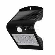 1.5W LED Solar Wall Light 4000K+4000K Black+Black Body