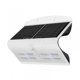 6.8W LED Solar Wall Light 4000K+400K White+Black Body
