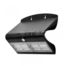 6.8W LED Solar Wall Light 4000K+4000K Black+Black Body