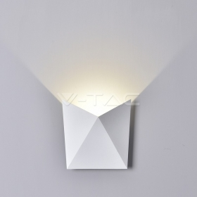 5W LED Wall Light White Body IP65 4000K