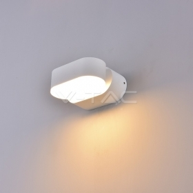 6W LED Wall Light White Body IP65 Movable 4000K