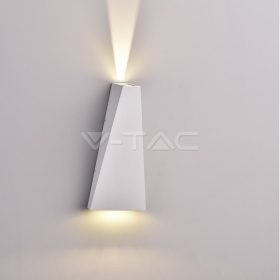 6W LED Wall Light White Body IP65 4000K