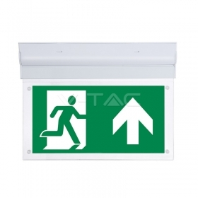 2W Wall Surface Emergency Exit Light 12 Hours Charging 6000K